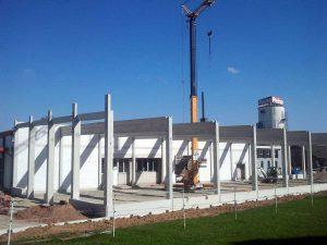 Neubau einer Produktionshalle, Herste