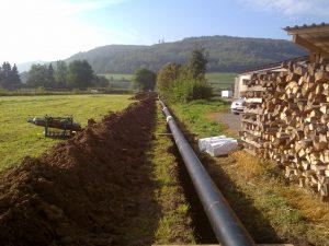 Fernwärmeleitung für eine Biogasanlage, Beverungen