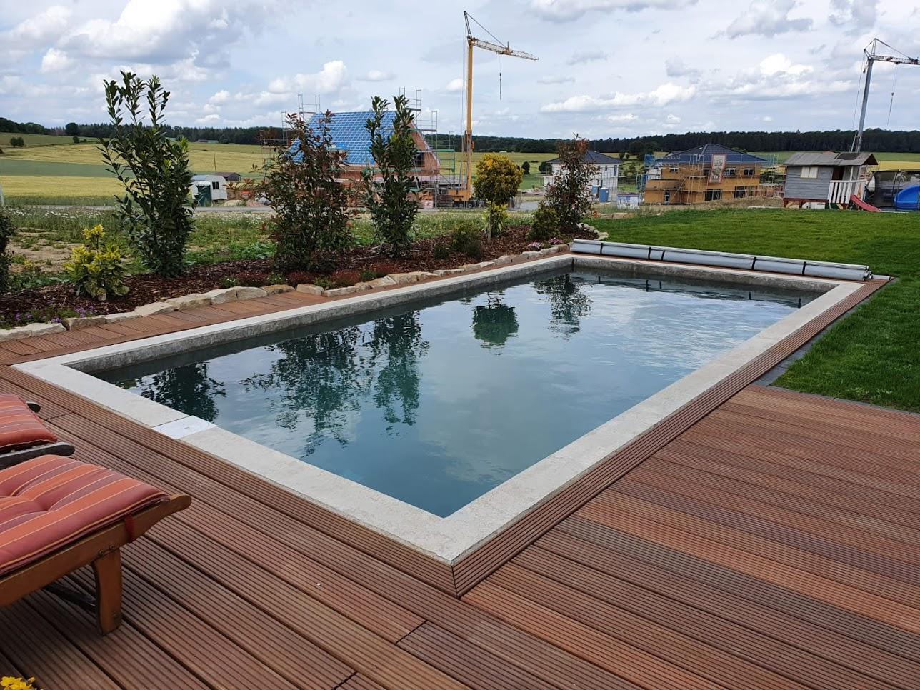 Gartenpool, Dringenberg - Neubau eines Gartenpools in Sichtbetonqualität