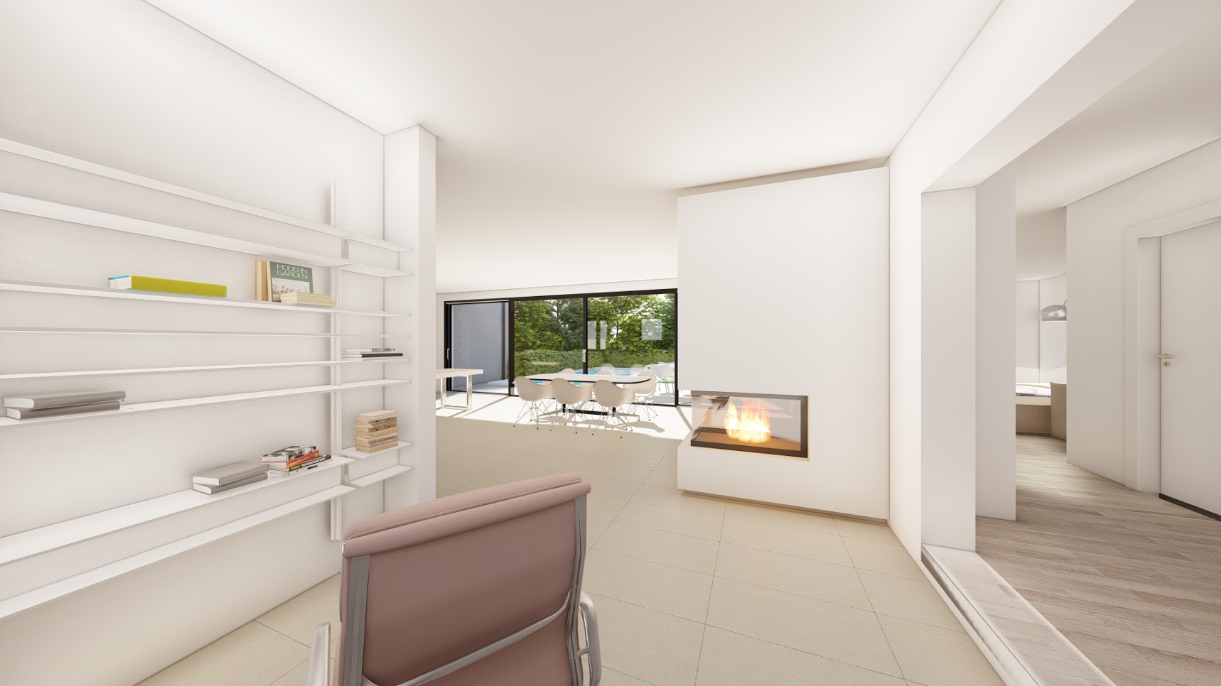 Bauhausvilla, Detmold - Umbau, Sanierung und Poolneubau an einer Villa im Bauhausstil
